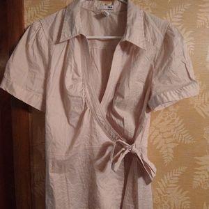 H&M striped blouse wrap